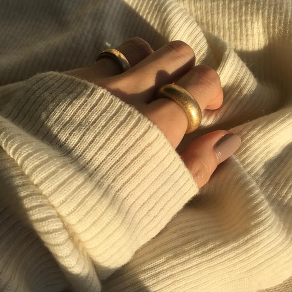 matte donut ring -gold-