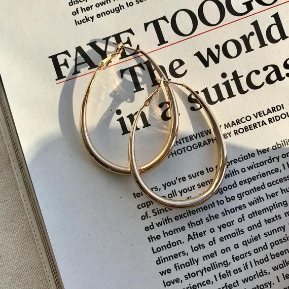 teardrop earrings -GOLD-