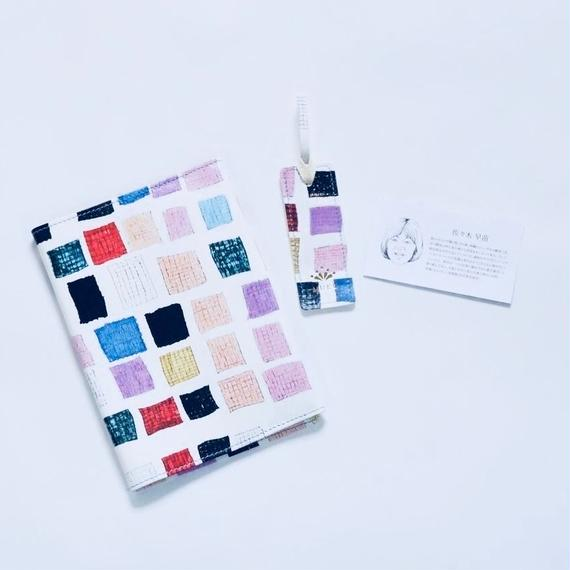 Sanae Sasaki「無題」/ 本革製ブックカバー&しおりセット