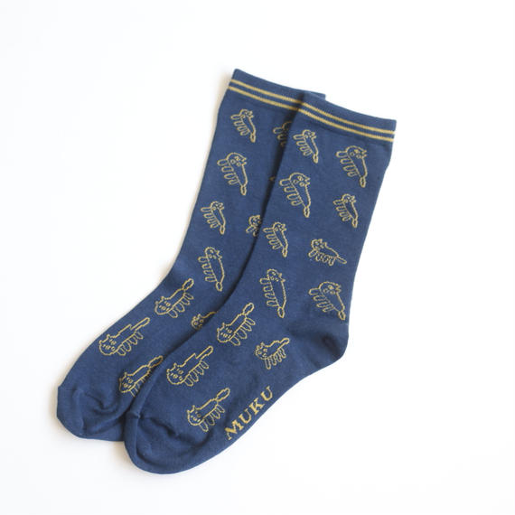 【予約販売】Yukio Watanabe『unico犬』|フェルメールブルー|Socks