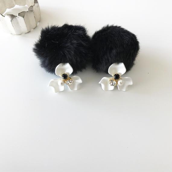eco fur catch pierce*black