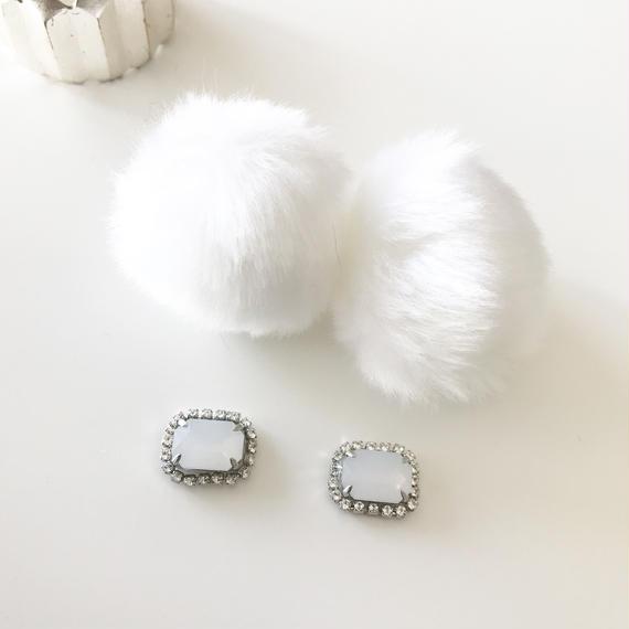 eco fur catch pierce*white