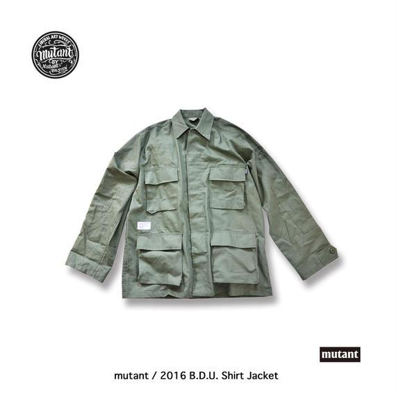 mutant / 2016 B.D.U. Shirt Jacket / unisex