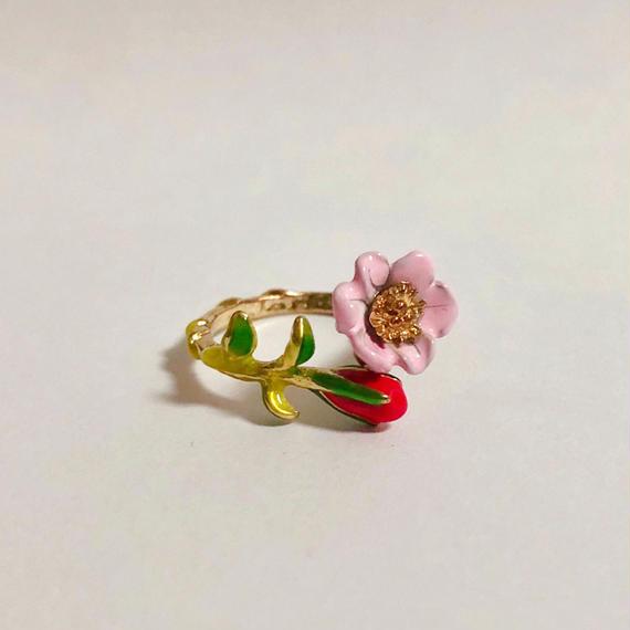 薔薇と蕾のリング