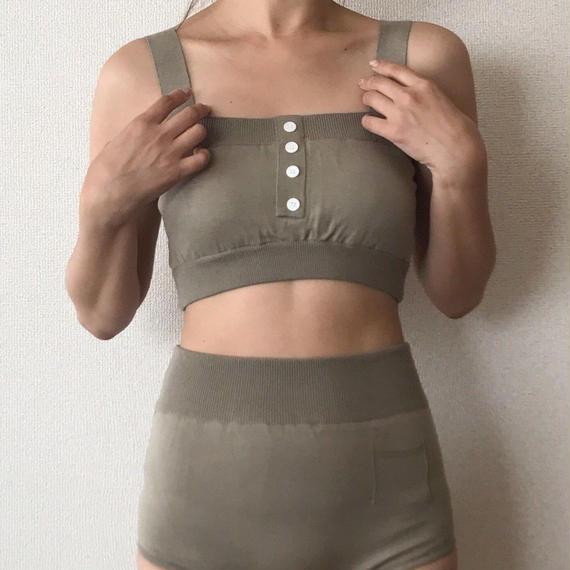 knit bikini[khaki]
