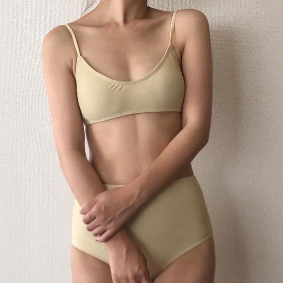 simple high-waist bikini[beige]