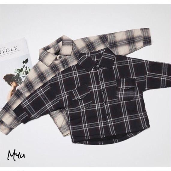 【80〜120cm】Check shirt
