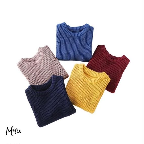 【90〜150cm】Simple side srit knit
