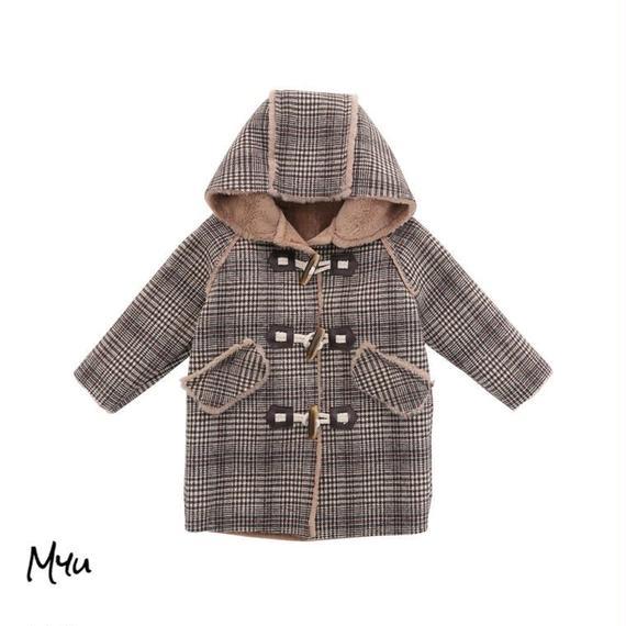 【90〜150cm】Wool check coat