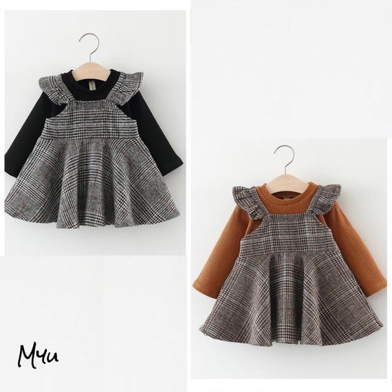 【66〜100cm】Check dress