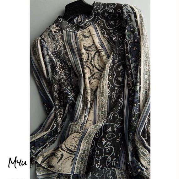 即納【Mom】Chiffon blouse