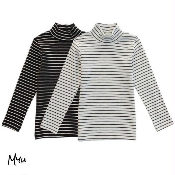 親子【Mom】High neck border tops