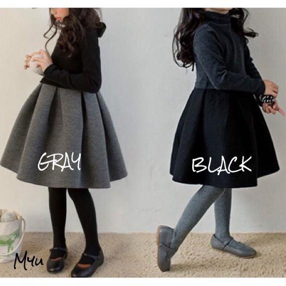 【110cm〜160cm】Back ribbon dress