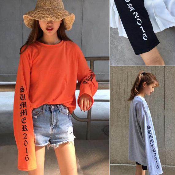 カップルロット長袖 Tシャツ 全4色