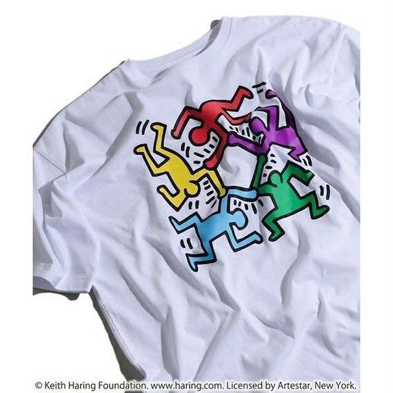 Keith Haring × NOUNO Big T-Shirt(White/Hexagon) キース・ヘリング ビッグシルエットTシャツ