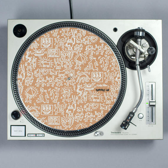 Turntable Lab  Record Mat【Cork White Print】 / レコードマット(1枚組)【コルク ホワイト プリント】
