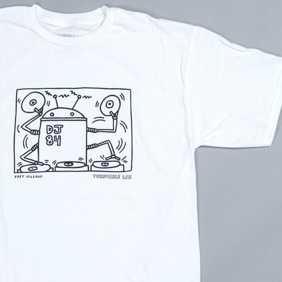 Turntable Lab Robot DJ T-Shirt 【White】
