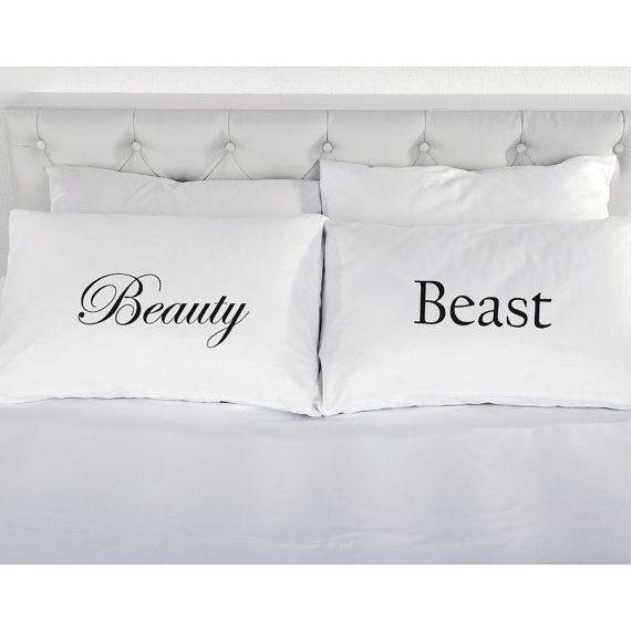 """【即納】""""Beauty and The Beast"""" Set Pillow Cases (ビューティー&ビースト ピローケース)"""