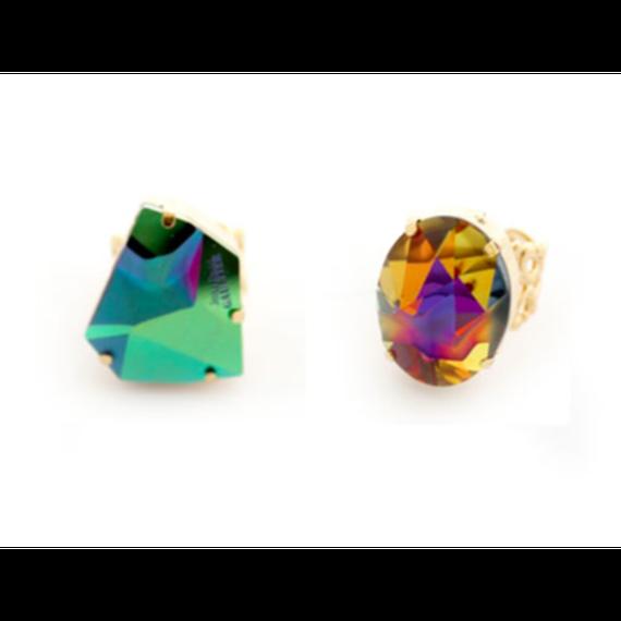 Swarovski Crystal Ring(ラウンドシェイプスワロフスキークリスタル リング )