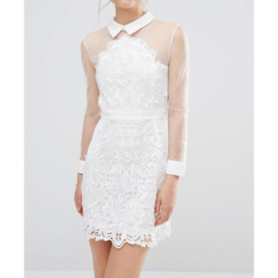 【Back In Stock!!再入荷】See Though Lace Dress In Pure White  (ピュアホワイトシースルーレースワンピ)
