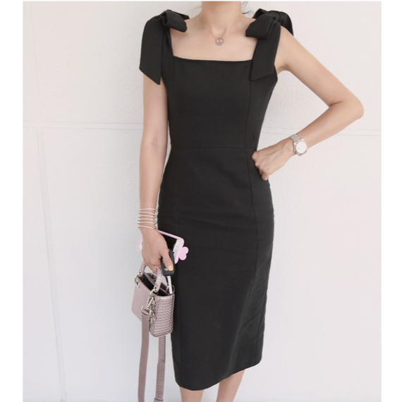 【Back In Stock!!再入荷】Little Black Dress With Ribbon Detail (リボンモチーフ・リトルブラックドレス)