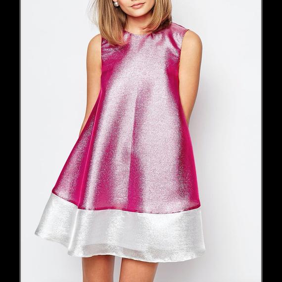 Liquid Lame A-Line Dress (リキッドラメAラインワンピ) /