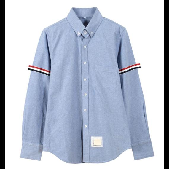 【2色】Tricolore Patchwork Shirt (横トリコロールパッチワークシャツ)