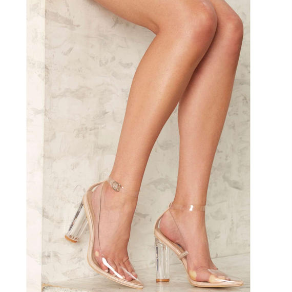 【Back In Stock!! 再入荷】120mm Pointed Toe Clear Pumps ( ポインテッドトゥ・クリアパンプス)