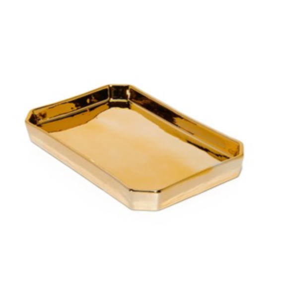 Gold Tone Finish Deco Plate Small (ゴールドトーンデコプレート 小)