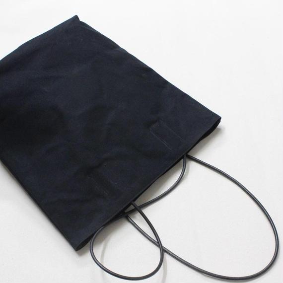 革紐鞄 黒 栃木レザー革紐 10号パラフィン帆布