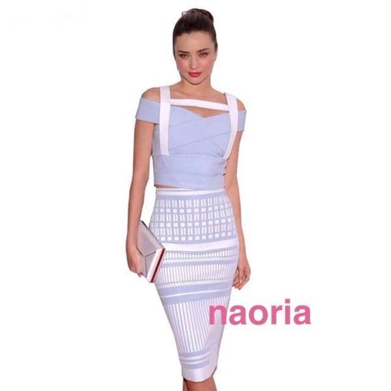 即納&予約制 ミランダカー同型バンテージドレス 2ピ ースドレス セットアップワンピース