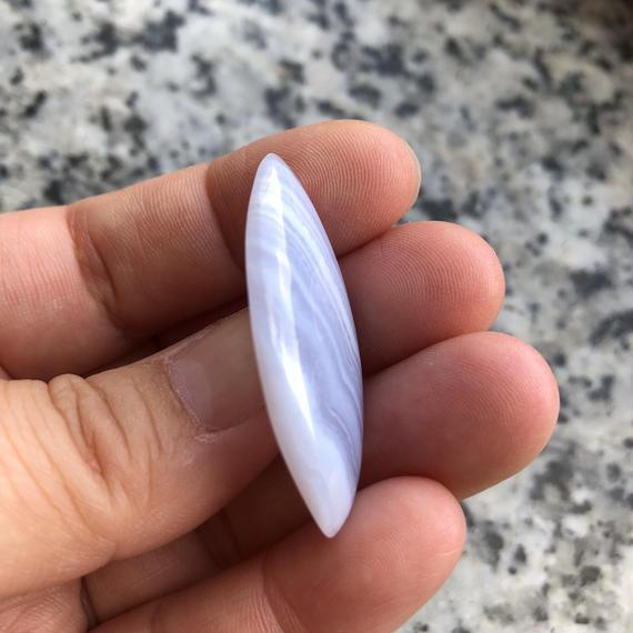 ブルーレースアゲート(No.4)/天然石ルース(裸石)