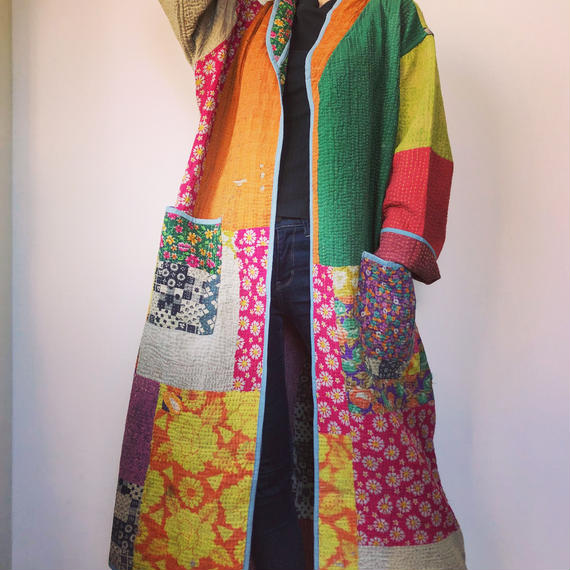 vintage kantha kimono jacket