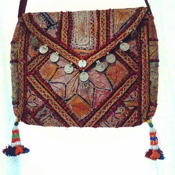 アフガン刺繍ショルダーバッグ