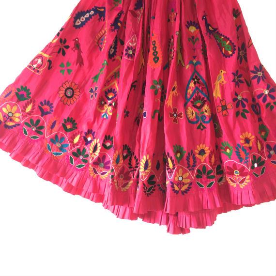 グジャラート州民族刺繍  ジプシースカート