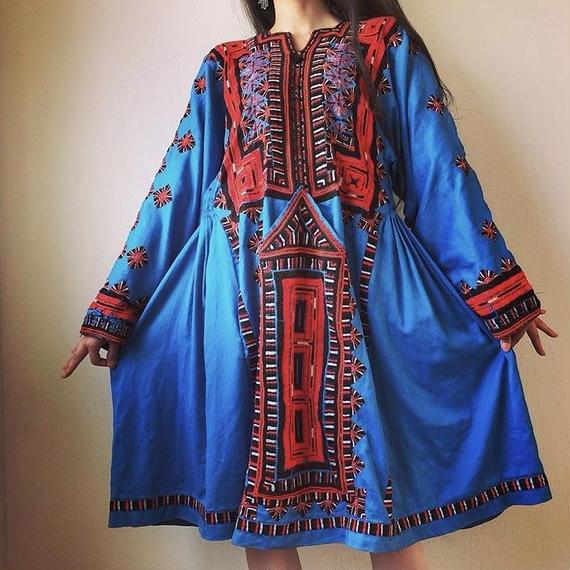 vintage baloch dress blue!