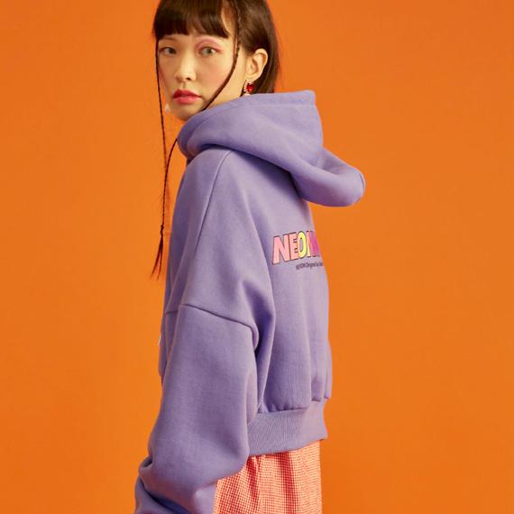 18W Crop Hood T-Shirt (Purple)