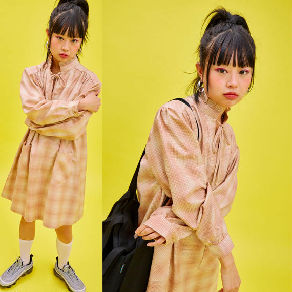 19S_Frill OPS_Check (Beige)