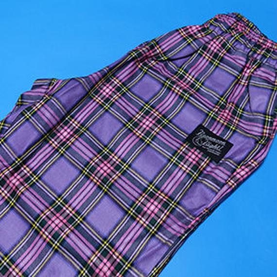 Purple Check Belt Pants