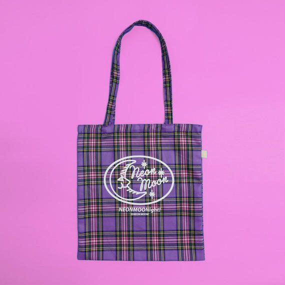 Purple check bag