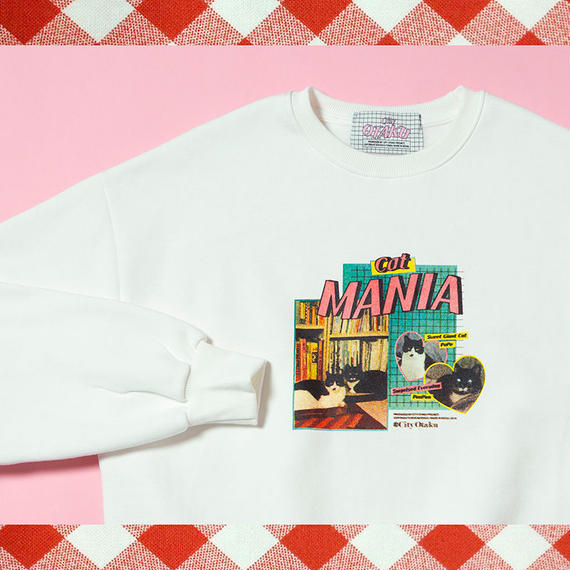[CITY OTAKU Project] Cat Mania Sweat Shirt