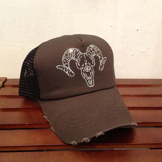 Limited goat skull design cap