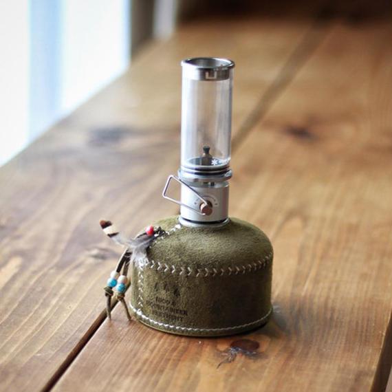 【受注生産】What Will be Will Be/スウェードレザー ODガス缶カバー(小:110サイズ)  olive
