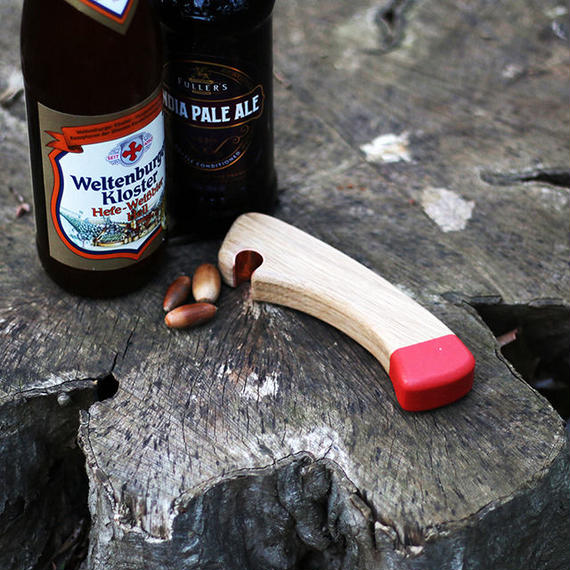 Axe handle Bottle Opener Red by Echtra