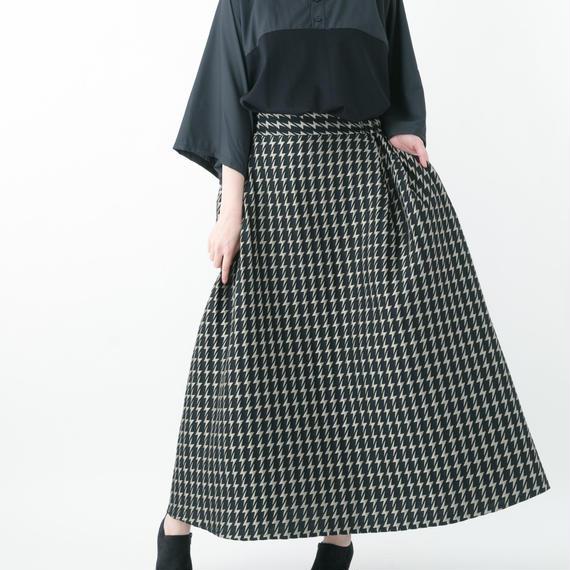 【19S/S 受注予約商品】Electrical Circular Skirt (BLACK×GOLD , BLACK×BLACK)