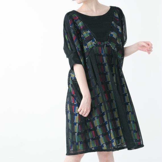 【19S/S 受注予約商品】Colorbar One-Piece Dress (BLACK)