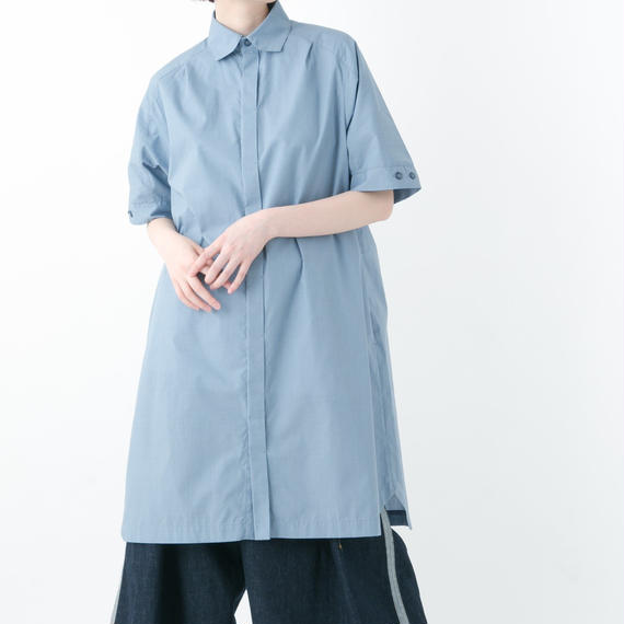 【19S/S 受注予約商品】Shirt One-Piece Dress (BLUEGRAY , BLACK)