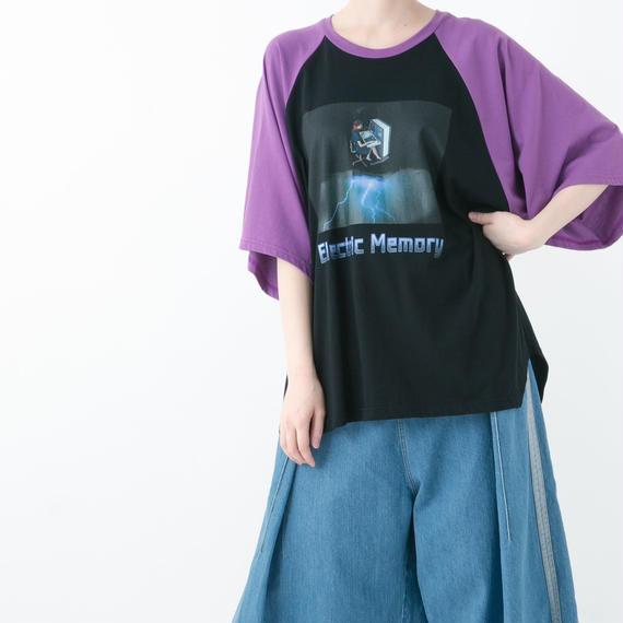 【19S/S 受注予約商品】Electric Memoly Raglan T-shirt (WHITE , YELLOW , PURPLE , BLUE)