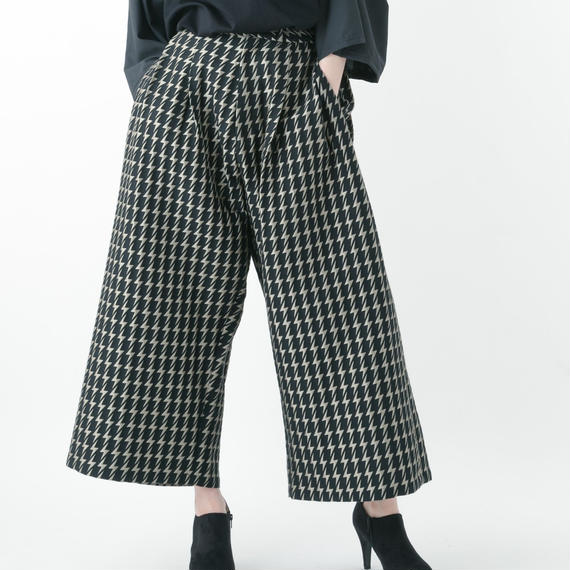 【19S/S 受注予約商品】Electrical Wide Pants (BLACK×GOLD , BLACK×BLACK)