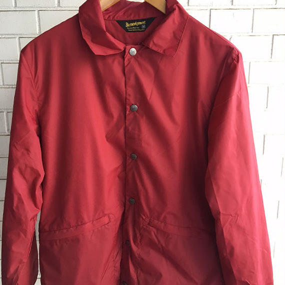 BLUCO(ブルコ)COACH JACKET RED